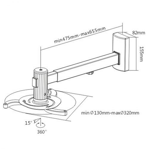 Mbajtese Projektori SBOX PM-105 Blerje Online