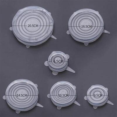 Set 6 kapakesh silikoni per ene kuzhine Set 6 kapakesh silikoni per ene kuzhine