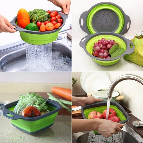 2 pieces set collapsible foldable fruit vegetable washing basket strainer 500x500 1