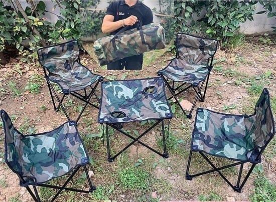 Set kampingu Tavoline + 4 karrige